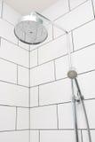 Rain shower in modern bathroom Stock Images