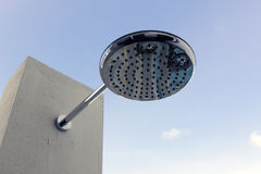 Rain shower shower head Royalty Free Stock Image