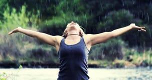 Rain shower (soft focus-rain) Royalty Free Stock Photos