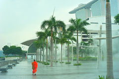 Rain in Singapore Royalty Free Stock Photos