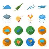 Rain, snow, heat, weathervane. The weather set collection icons in cartoon,flat style vector symbol stock illustration.  Stock Photo