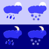 Rain and snow Royalty Free Stock Image