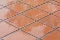 Rain soaked tiles Royalty Free Stock Photos