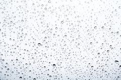 Of rain standing on a glass. water droplets on glass with white background.  stock images