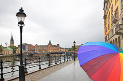 Rain in Stockholm Royalty Free Stock Image