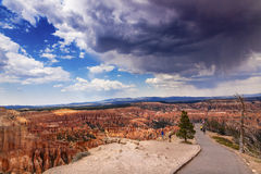 Rain Storm Amphitheater Hoodoos Bryce Point Bryce Canyon Nationa Royalty Free Stock Photos