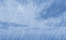 Rain storm background in cloudy weather Royalty Free Stock Photo