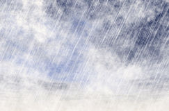 Rain storm backgrounds in cloudy fog weather Royalty Free Stock Images
