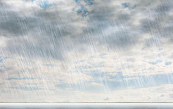 Rain storm backgrounds in cloudy weather Stock Image
