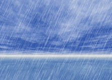 Rain storm backgrounds in cloudy weather Stock Photography