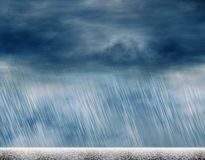 Rain storm backgrounds in cloudy weather. Rain storm background in cloudy weather royalty free illustration