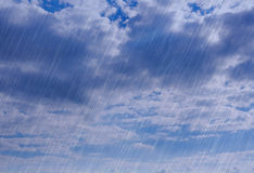 Rain storm backgrounds in cloudy weather Royalty Free Stock Images