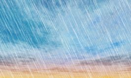 Rain storm backgrounds. In cloudy weather Stock Images