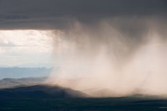 Rain Storm, Basque Country (Spain) royalty free stock photo