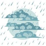 The autumn rain royalty free illustration