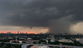 Rain storm. Evening downpour and rain storm in kuala lumpur, malaysia Royalty Free Stock Images