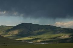 Rain Storm in Mongolia Royalty Free Stock Images