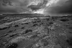 Rain Storm over the Desert Utah Landscape Royalty Free Stock Photography
