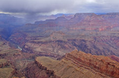 Rain Storm Over the Grand Canyon Stock Image
