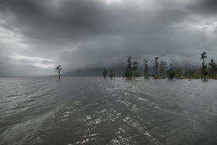 Rain storm over Lake Brunner, New Zealand Royalty Free Stock Photo