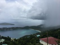 The rain storm in St. Thomas royalty free stock photos