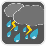 Rain storm weather illustration Stock Photo