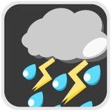 Rain storm weather illustration Royalty Free Stock Photo
