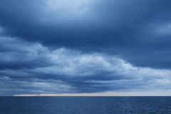 Rain storms are happening at sea Royalty Free Stock Photography