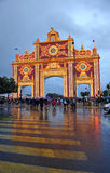 Rain and stormy day, Feria de Sevilla, Andalucia, Spain Royalty Free Stock Images
