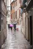 Rain in the Streets of Venice Stock Photography