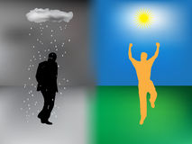 Rain and sun Royalty Free Stock Photo