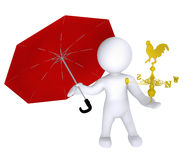 Rain or Sun. High Class rendered figure for perfect message transportation Royalty Free Stock Images