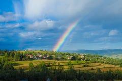 Rain, sun and a rainbow Royalty Free Stock Photo