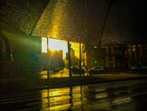 Rain and sun Stock Images