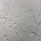 Rain on the sunroof Royalty Free Stock Image