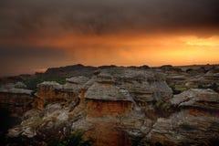 Rain at sunset Stock Image