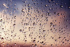 Rain at sunset Royalty Free Stock Photography