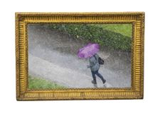Free Rain Time In The Autumn- Photograph As Painting Stock Photo - 105713560