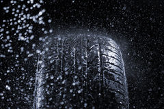 Rain Tire Royalty Free Stock Photo