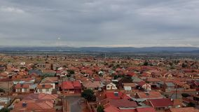 After the rain at a township in Pretoria stock footage