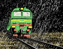 Rain train Stock Images