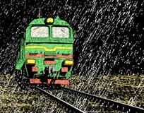 Rain train vector illustration