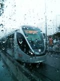 Rain and train Royalty Free Stock Photos