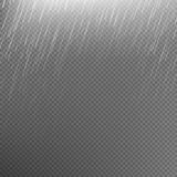 Rain transparent template background. EPS 10 Royalty Free Stock Image