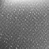Rain transparent template background. EPS 10 Royalty Free Stock Photo