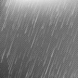 Rain transparent template background. EPS 10 Stock Image