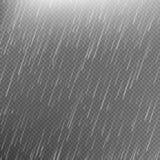 Rain transparent template background. EPS 10. Rain transparent template background. Falling water drops texture. Nature rainfall on checkered background. EPS 10 Stock Image