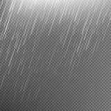 Rain transparent template background. EPS 10 Royalty Free Stock Photos
