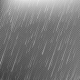 Rain transparent template background. EPS 10 Stock Photo
