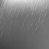 Rain transparent template background. EPS 10 Royalty Free Stock Images